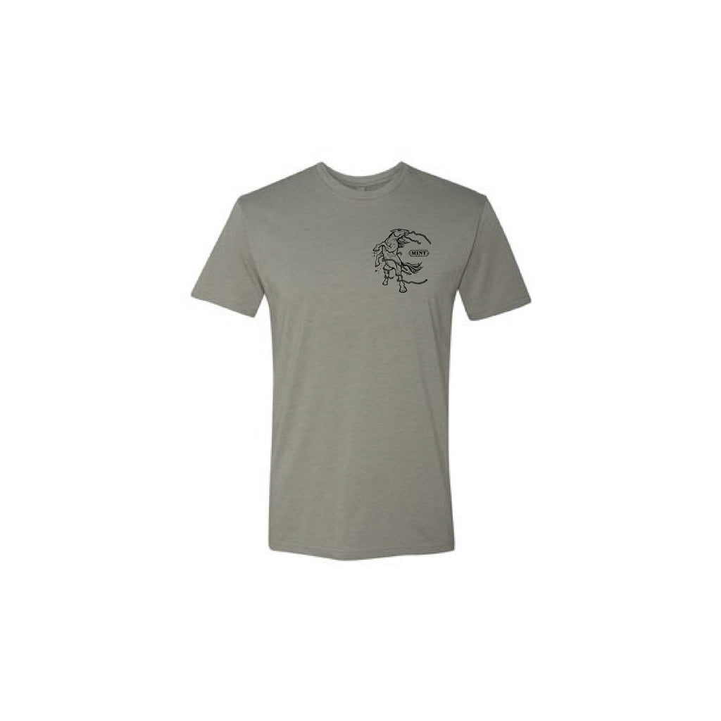 Mustang Logo - Cotton/Poly Tee