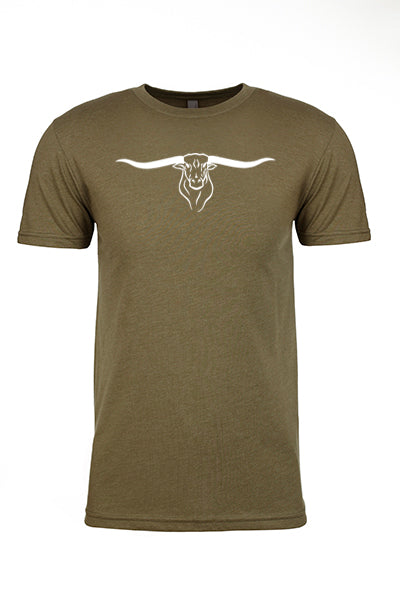 MINT Longhorn Logo - Cotton/Poly Tee