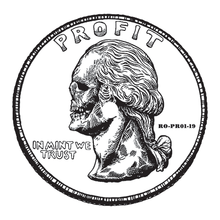 Profit Coin Sticker
