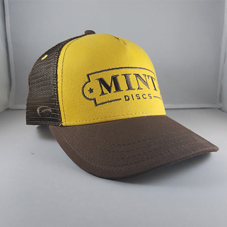 Trucker Hat - Low Profile (Yellow & Brown)
