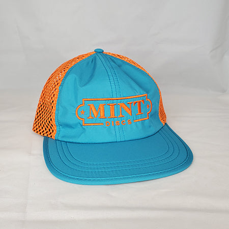 Polyester Performance Hat w/ Mint Logo (Adjustable Strapback)