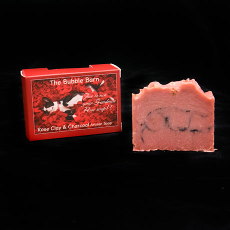 Rose Clay & Charcoal Soap - The Bubble Barn