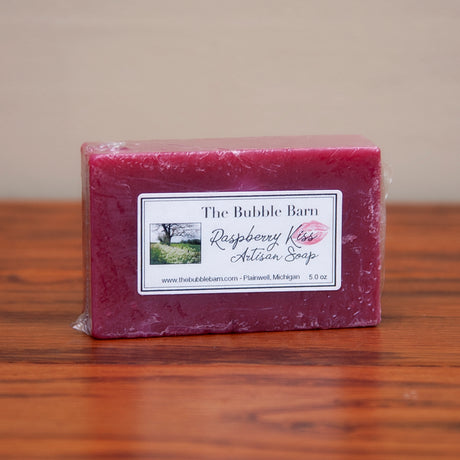Raspberry Kiss Artisan Soap - The Bubble Barn