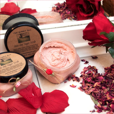 Rose Clay Sugar Scrub - The Bubble Barn