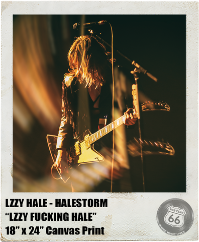 LZZY HALE: <br> LZZY FUCKING HALE <br>(Canvas Print)