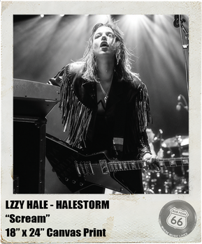 LZZY HALE: <br>Scream <br>(Canvas Print)