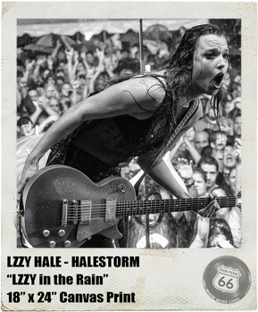 LZZY HALE: <br>LZZY in the Rain <br>(Canvas Print)