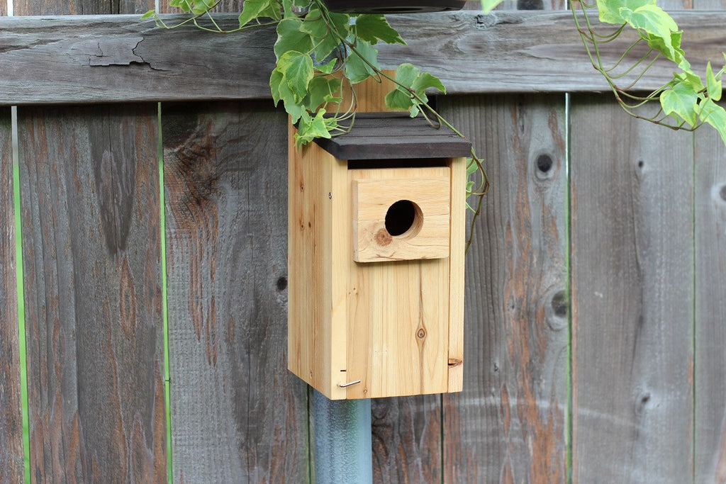 Fence Post Mounted Birdhouses and Feeders Made Easy