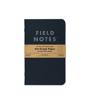 Field Notes Pitch Black Note Book - Ruled - 2-Pack
