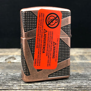 Zippo Lighter Armor® Geometric Design - Choice Collection - Antique Copper