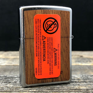 Zippo Lighter WOODCHUCK USA Howling Wolf - Street Chrome