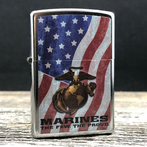 2019 Zippo Lighter - United States Marine Corps - Street Chrome