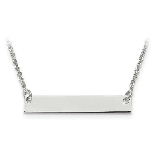 Silver or Gold Bar Necklace with Sonogram Heart Rhythm