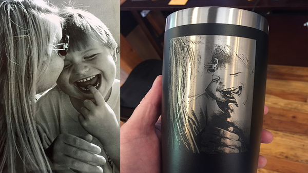 Laser Engraved Stainless Steel Tumbler