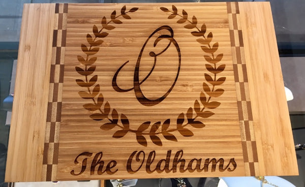 Engravable Bamboo Cutting Board