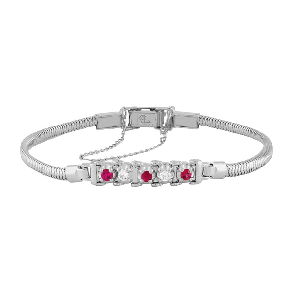 TENNIS BRACELET STYLE – RUBY AND DIAMOND