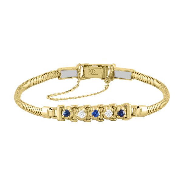 TENNIS BRACELET STYLE – SAPPHIRE AND DIAMOND
