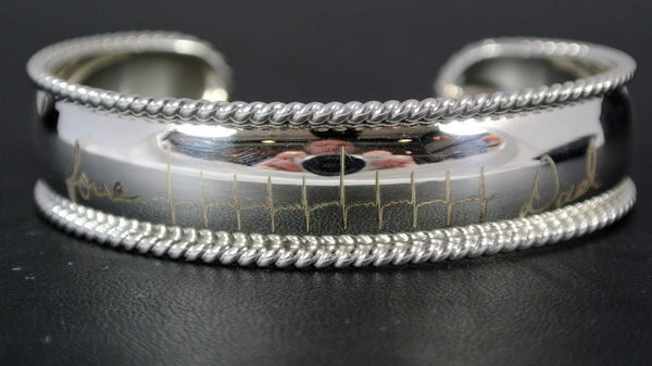 Sterling Cuff Bracelet with your Heartbeat