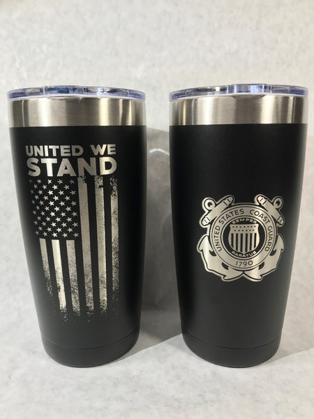 US Veterans Laser Engraved Stainless Steel Tumbler (Free Shipping)