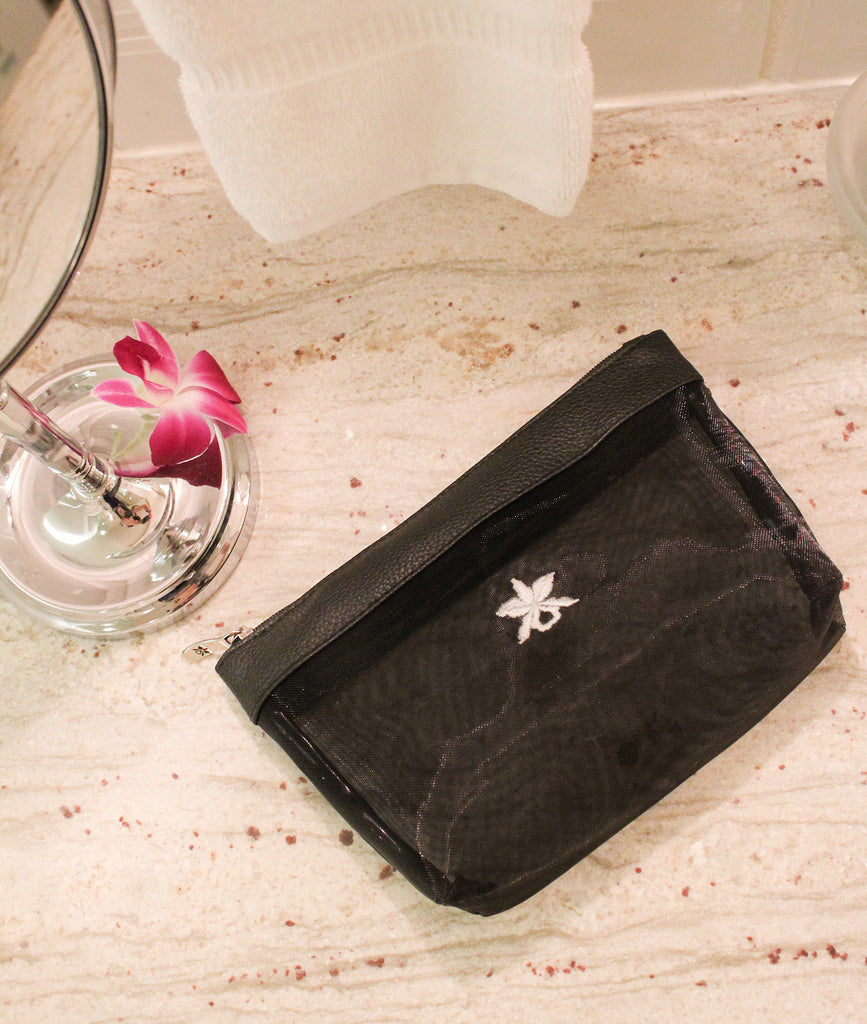 Black Mesh Cosmetic Pouch
