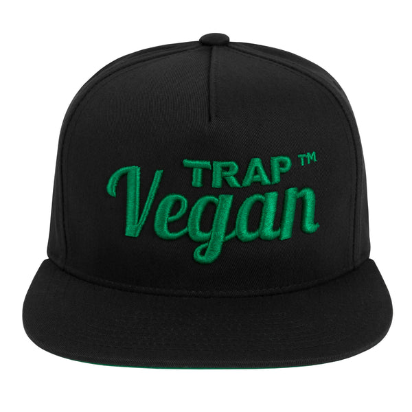 Classic Men's Trap Vegan T-Shirt (Black & Green)