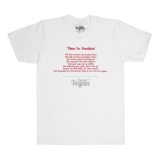 """Time to Awaken"" Men's Poem Shirt (White)"