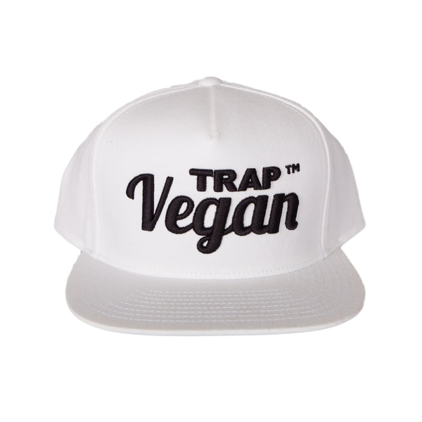 Original Trap Vegan Snapback Hat (White & Black)