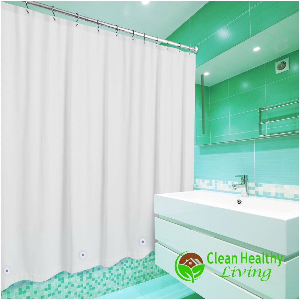 heavy duty peva shower liner white