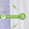 Clean Healthy Living Microfiber Fabric White Shower Curtain & Liner with Suction Cups & Weighted Bottom - 70 X 72 in. Long