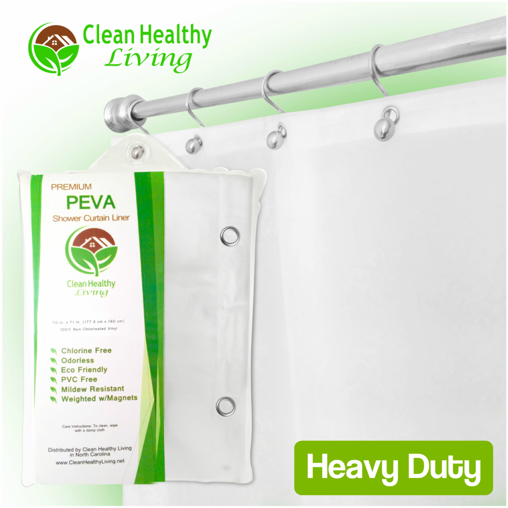 Heavy Duty PEVA Shower Liner - White