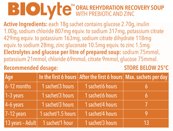 BIOLyte Oral Rehydration Recovery Soup - Pumpkin 3 pack