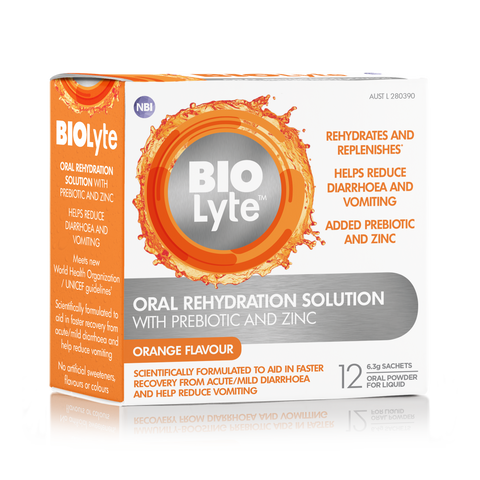 BIOLyte Oral Rehydration Solution 12 x 6.3g Sachets - Orange