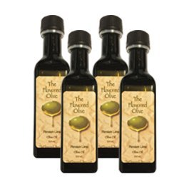 4 Pack Small Bottle Gift Box.  Balsamic Vinegar - Fig, Garlic Cilantro, White Traditional, White Strawberry Peach. Makes a Great Holiday Gift! - TheFlavoredOlive