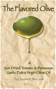 Sun Dried Tomato Parmesan & Garlic Infused Olive Oil from The Flavored Olive - TheFlavoredOlive