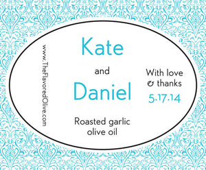 Custom Large Labels - Weddings, Gifts, Favors, Presents - TheFlavoredOlive