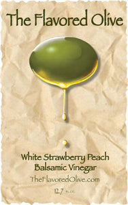 White Strawberry Peach Balsamic Vinegar - TheFlavoredOlive