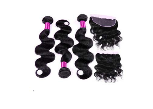 3 Bundle Deal with Closure (Body&Curly Wave)