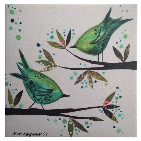 Card - Two Green Birds (NM04)