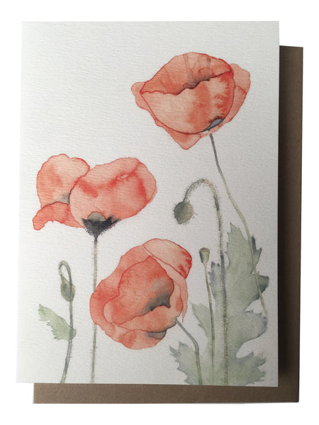 Card - Poppies (AB53)