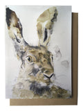 Card - Head of a Hare (AB01)