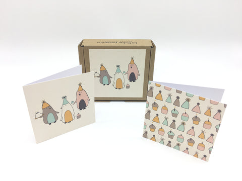Birthday Penguins - teNeues GreenGift-Notes