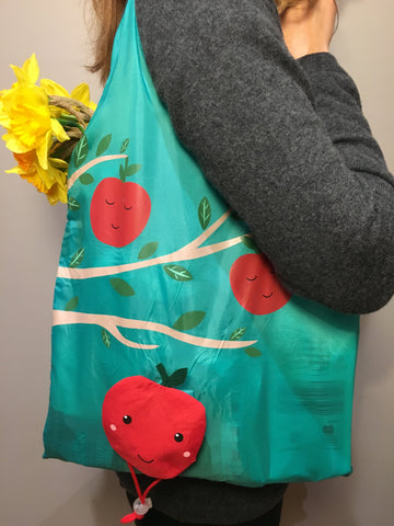 Happy Apple Reusable Shopping Bag