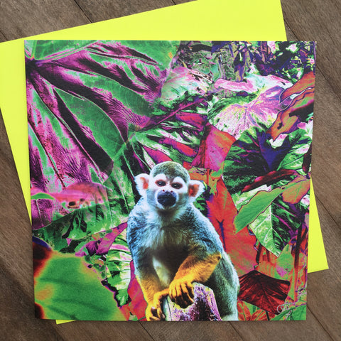Card - Neon Tropics Monkey (NT04GC)