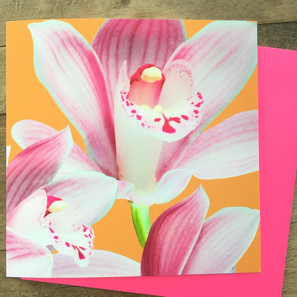Card - Neon Photo Flowers (PF07GC)
