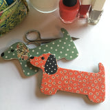 Dachshund  Nail File - Red