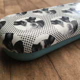 Etching Dog Glasses Case