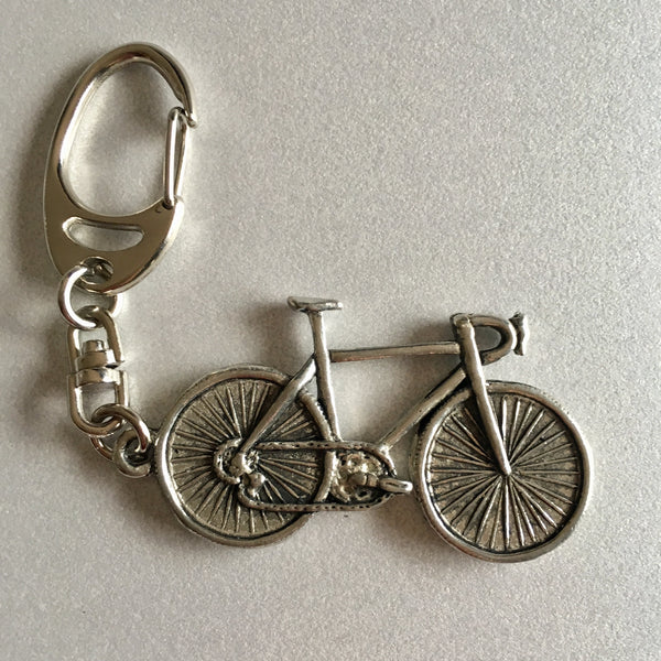 Pewter Keyring - Bicycle