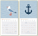 Mini GreenLine Calendar - Sea