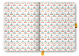 Cool Diary Large - Lightblue/Boat