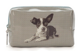 Etching Dog Beauty Bag
